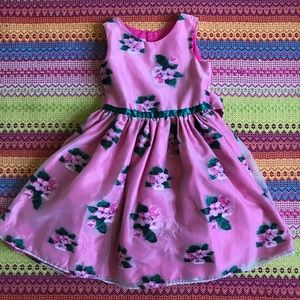 Girls Size 6 Floral Embroidered Dress
